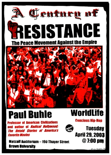"A Century of Resistance, 16"" x 20"", screenprint, 2003."