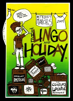 "Lingo & Holiday, 12"" x 16"", screenprint with pop-up-book wheel, 2004."