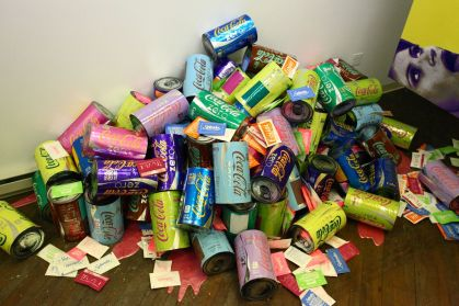 Tasty Pile (from Tasty installation), dimensions variable, mixed media, 2012.