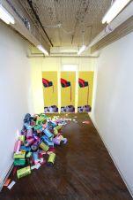 Tasty (installation shot), room dimensions 10' x 23' x 15', mixed media, 2012.