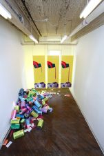 Tasty (installation shot), room dimensions 10' x 23' x 15', mixed media, 2012.