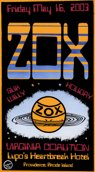 "Zox and Virginia Coalition, 14"" x 20"", screenprint, 2003."