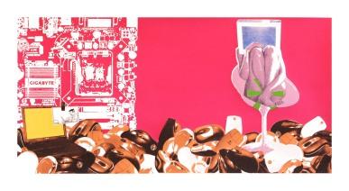 """Musophobia, screenprint, 22"""" x 40"""", 2010."""