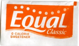 "Equal Packet, screenprint on Tyvek with polyester fill, 6.25"" x 3"" x .25"", 2012."