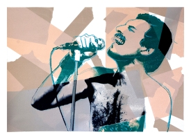 "Freddie, 28"" x 20"", screenprint, 2013."