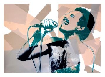 "Freddie, 28"" x 20"", screenprint, 2013."