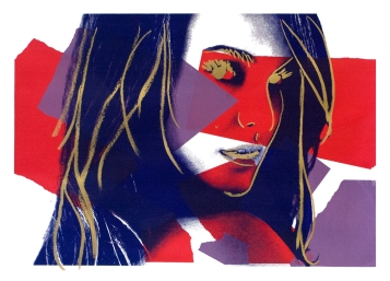 "Natalie, 28"" x 20"", screenprint, 2013."