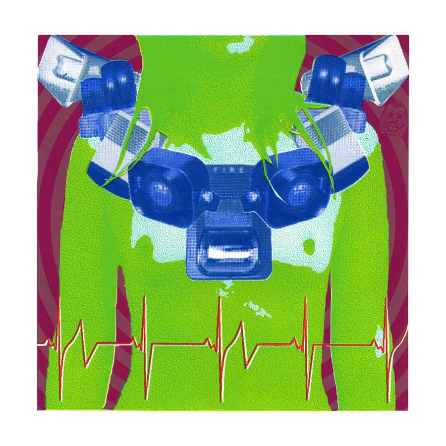 """Panic Button, screenprint, 18"""" x 18"""", 2009."""