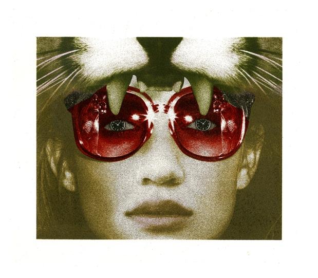 "Cougar, 12"" x 10"", lithograph, 2015."